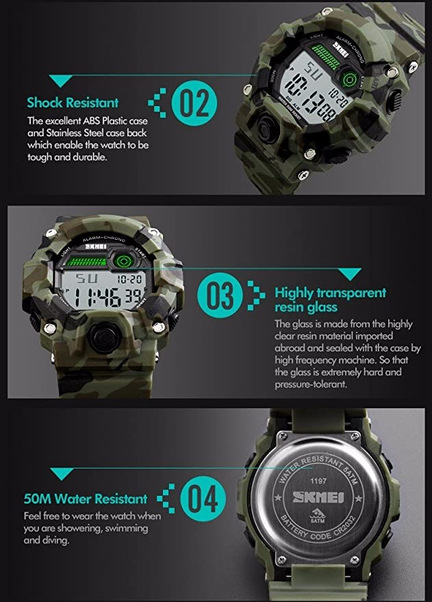 Amazon.com: Gosasa Big Dial Digital Watch S Shock Men ...