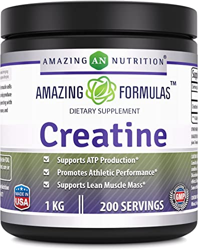 Amazing Formulas Creatine Powder – 1 KG 2.2 Lb , 200 Servings – Supports ATP Production, Promotes Athletic Performance and Supports Lean Muscle Mass