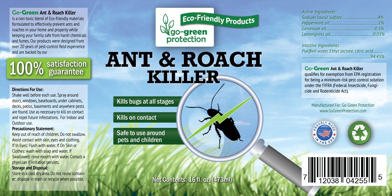 Amazon.com : 2-in-1 Ant and Roach Killer AND Repellent by Go-Green ...