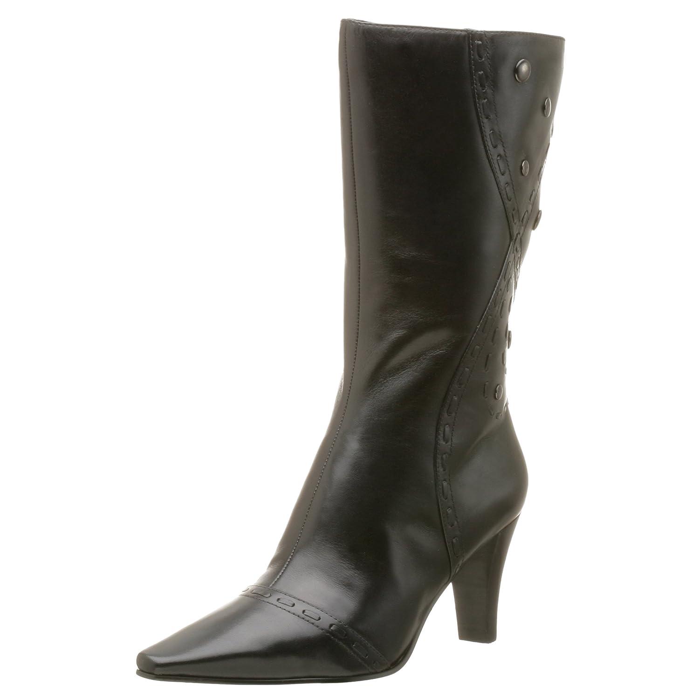 b1a37562dc8 Amazon.com   Bandolino Women's Calista Boot, Black Leather, 7.5 M ...