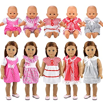 Miunana Clothes Outfits Dresses For Baby Dolls 5 Dresses Amazon