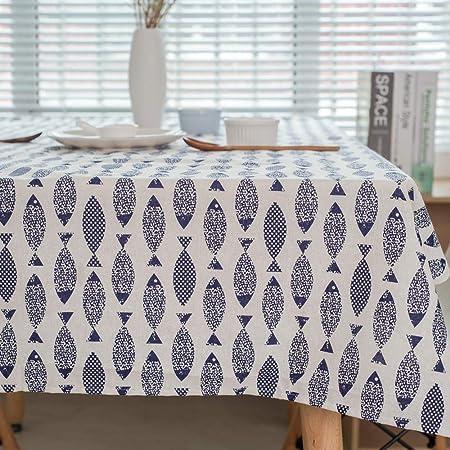 QWEASDZX Mantel Simple Personalidad Algodón y Lino Mantel Antimanchas Impermeable y Resistente al Aceite Adecuado para Interiores y Exteriores Mantel Rectangular 140x250cm: Amazon.es: Hogar