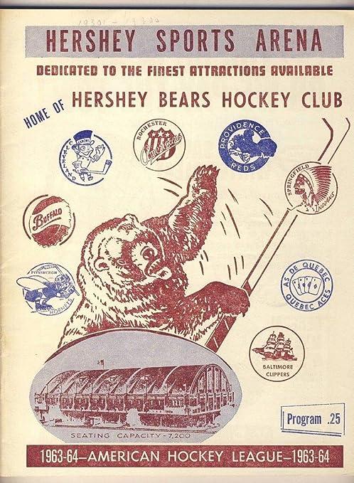 Amazon Com Hershey Bears 11 23 1963 Program Vs Pittsburgh Ahl
