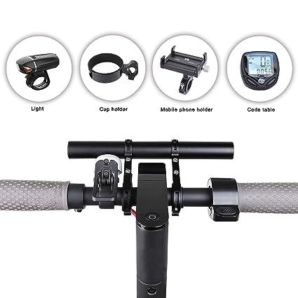 Atuka Barra de extensión de Manillar Barra de extensión de Bicicleta Soporte de aleación de Aluminio Soporte para XIAOMI M365, Ninebot ES1 ES2, ...