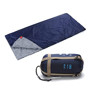 Yahill - Saco de dormir ligero impermeable para deporte aventurero, senderismo, azul marino