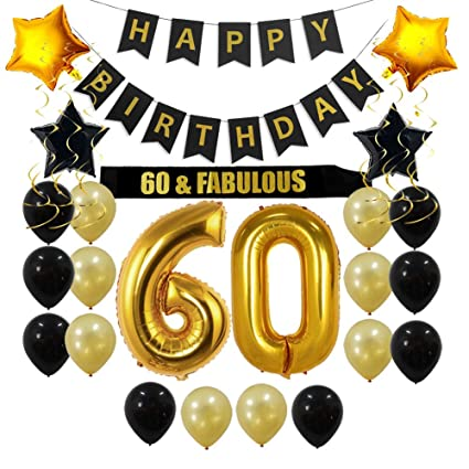 60th Birthday Decorations Party Supplies Gift For Men Women