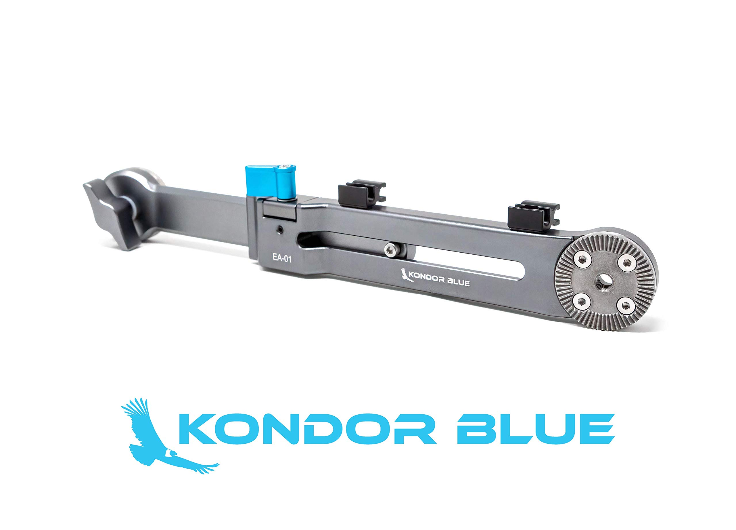 KONDOR BLUE Rosette Extension Arm Adjustable Length ARRI Rosette Shoulder Rig Camera Handgrip Extender RED URSA C500 F5 Alexa BMPCC 4K 6K (Extension Arm) by KONDOR BLUE