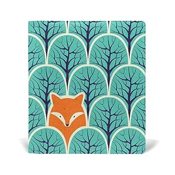 Alaza Fox Tree Forest Vintage Reutilisable En Cuir