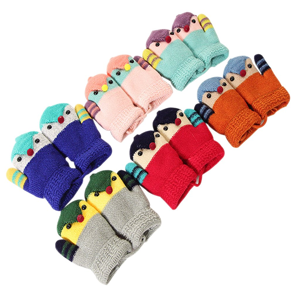 ZEVONDA Fashion Winter and Autumn Children's Flip-knit Gloves