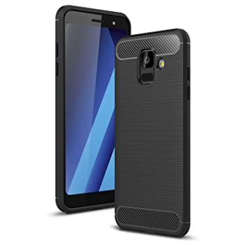 huge discount f3462 d1144 Samsung Galaxy A6 2018 Case, AILRINNI Silicone Carbon Fiber Samsung Galaxy  A6 Phone Case, Soft Gel Non-Slip Shockproof Bumper Protective Case Cover ...