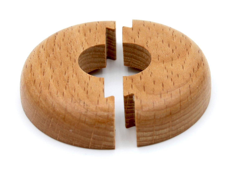 22 mm cerise bois ch/êne chauffage 15 mm acajou et couvercle pour tuyaux de chauffage 19 mm Lot de 2 rosaces simples pour tuyaux de chauffage en bois d/érable h/être noyer