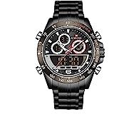 Naviforce Relógio Digital Analógico Masculino Multifunções Cronógrafo Impermeável Esportivo Quartzo Militar Relógios de Aço I