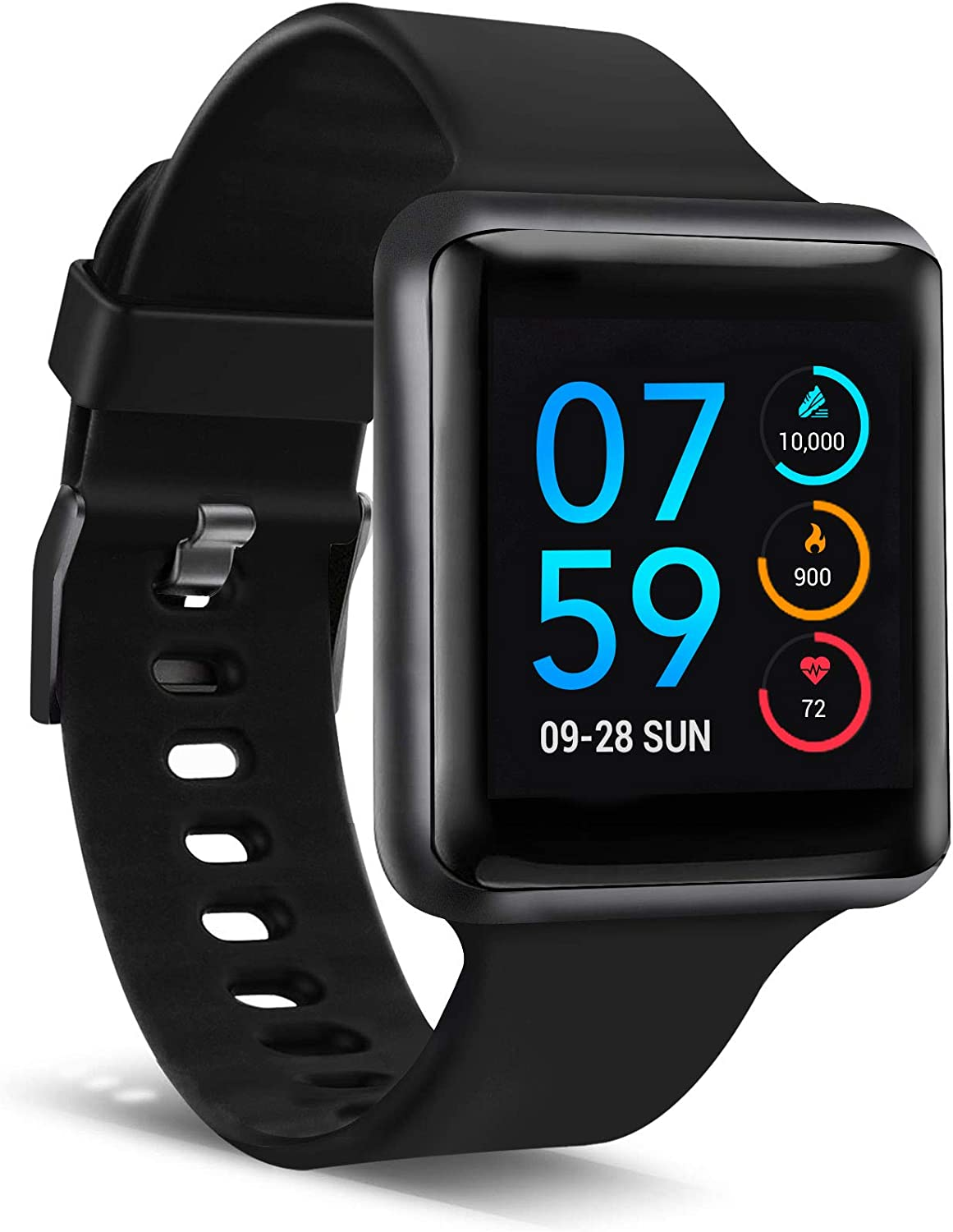 iTouch Air Special Edition Smartwatch for Fitness, iPhone and Android Compatible, Pedometer, Walking and Running Tracker for Women and Men (Small/Medium)