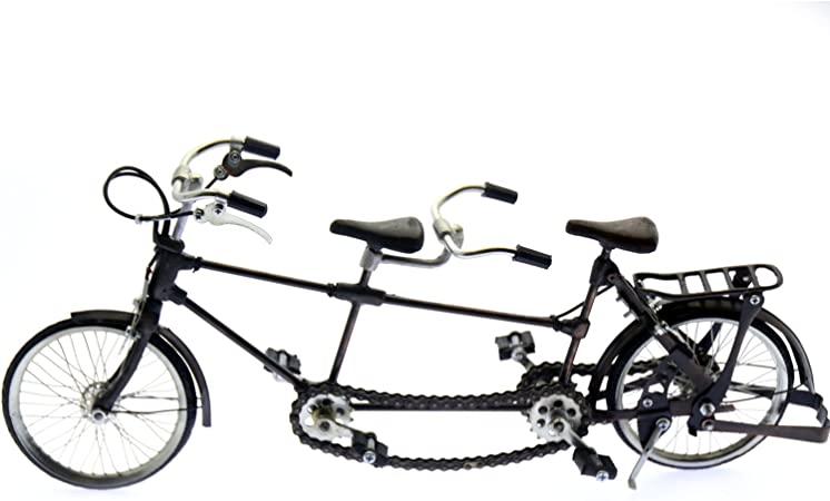 DRW Figura Replica Bicicleta Tandem Metal_42X21 Cm: Amazon.es: Hogar