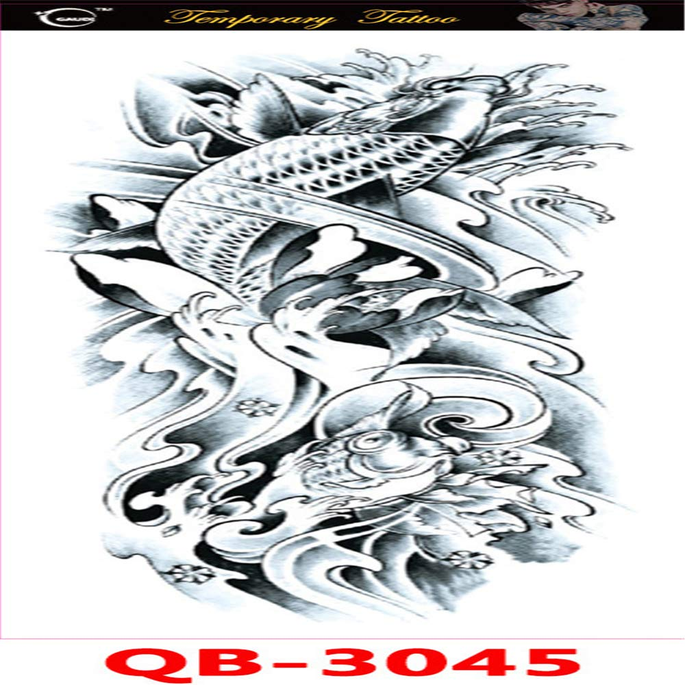 Handaxian 2pcs-Durable Realista Impermeable Brazo Completo Tatuaje ...