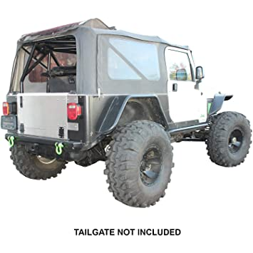 amazon com: swag off road 1987-95 jeep yj flat back drop down tailgate  conversion kit: automotive