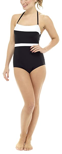1a68ab092e Tom Franks Bandeau Swimsuit with Tummy Control: Amazon.co.uk: Clothing