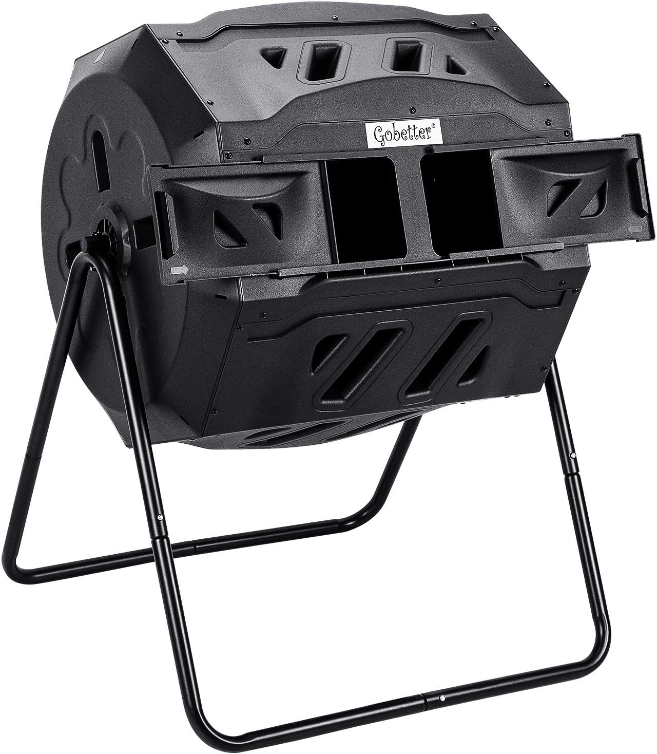 Compost Bin Outdoor, Compost Tumbler 45 Gallon Composter Tumbling Rotating with Dual Chamber, BPA Free and UV Resistant