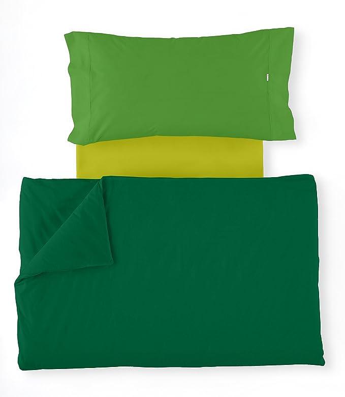 ESTELA - Juego de Funda nórdica Serie Multicolor (4 Piezas) - Verde Billar-Verde-Pistacho - Cama de 200 cm: Amazon.es: Hogar