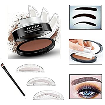Taipo 3 Stencils Waterproof Eye Brow Stamp Perfect Eyebrow Power Seal Nature Delicate Shape Makeup Fashion