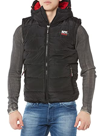 sale retailer 959dc 49689 Superdry - Sports Puffer Gilet, Black: Amazon.co.uk: Clothing