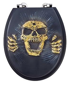 Relativ EISL EDSK01 Polyresin WC-Sitz Skull: Amazon.de: Baumarkt IW32