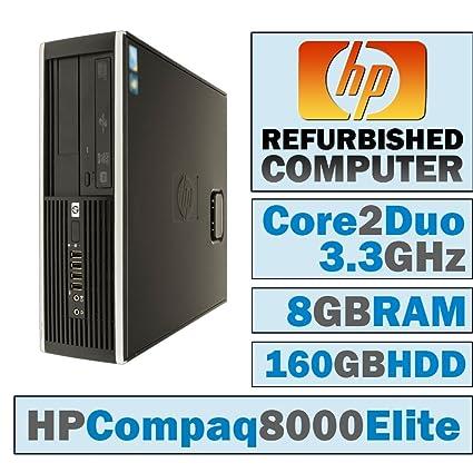 Amazon com: HP Compaq 8000 Elite SFF/Core 2 Duo E8600 @ 3 33 GHz/8GB