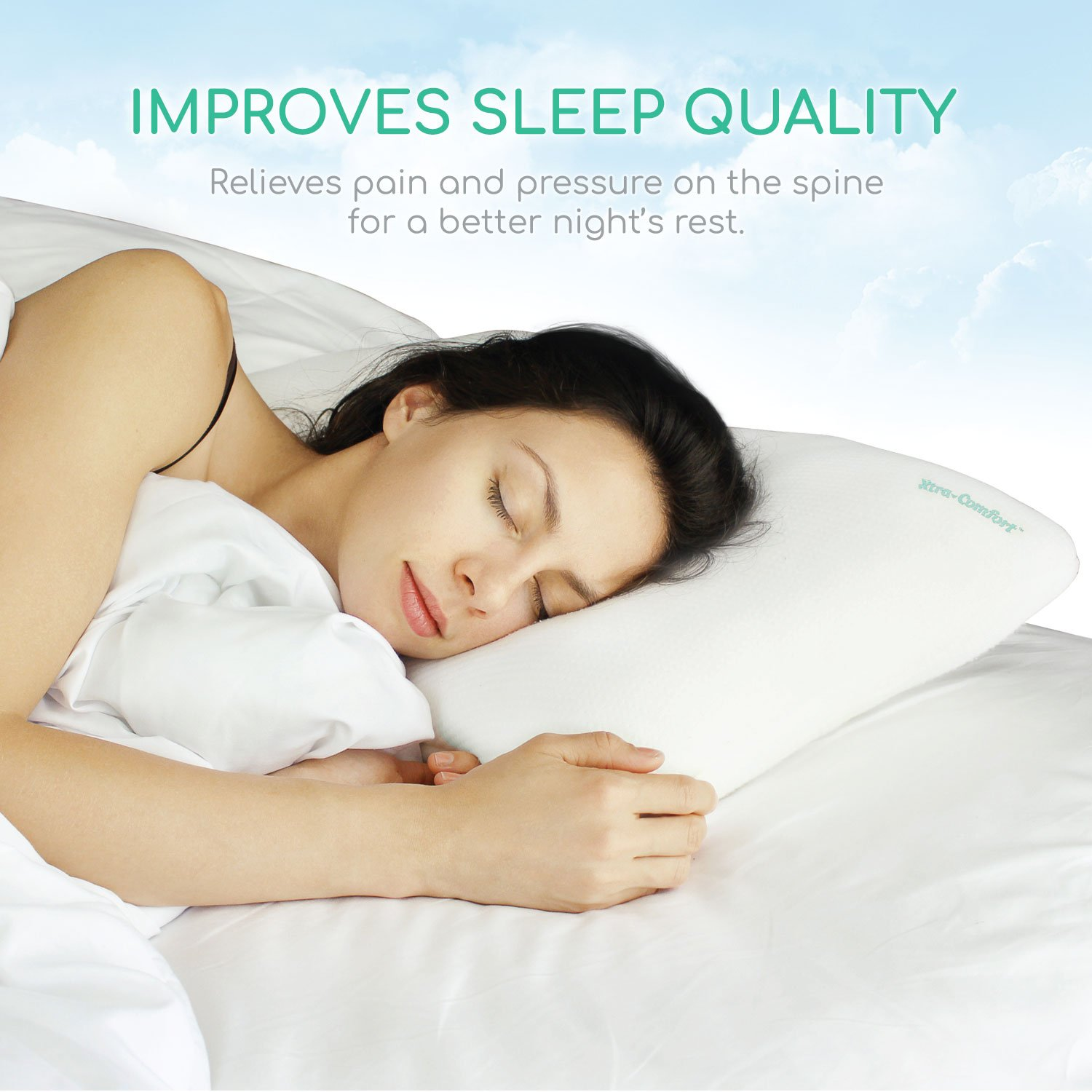 product chiropractic pillows pillow flexi relief hres category memory foam classic
