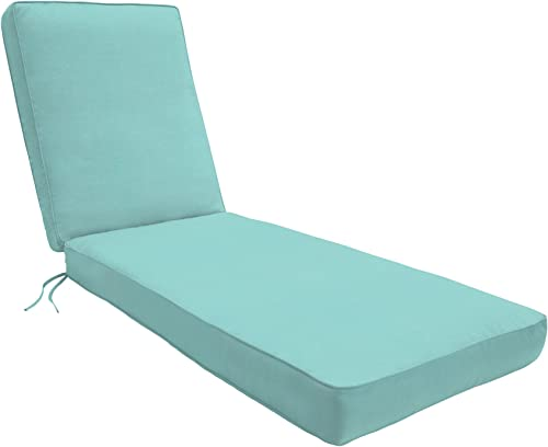 Eddie Bauer Home Chaise Double Piped 23 W x 75 L x 2.5 H, Canvas Aruba