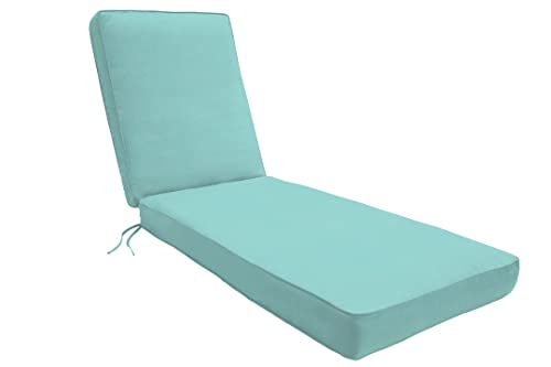 Eddie Bauer Home Chaise Double Piped, Canvas Aruba