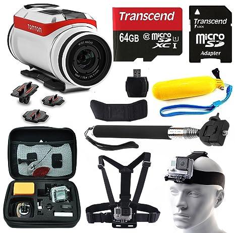 TomTom Bandit 4 K HD cámara de acción con 10 piezas de ...