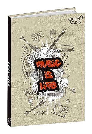 Agenda Escolar 1 Día/Página 2019-2020 Graffiti, 12x17cm, diseño Música