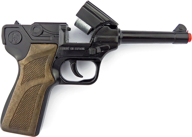 Gonher - Pistola Policía con 8 Disparos, Color Negro (124/6)