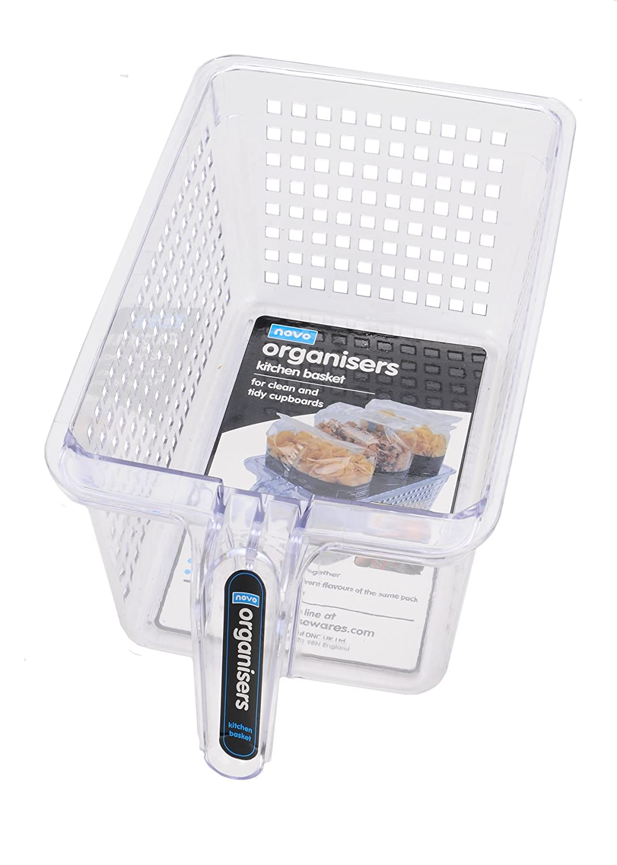 Novo Organise Basket Medium Tall Clear Pack of 4pc: Amazon.co.uk ...