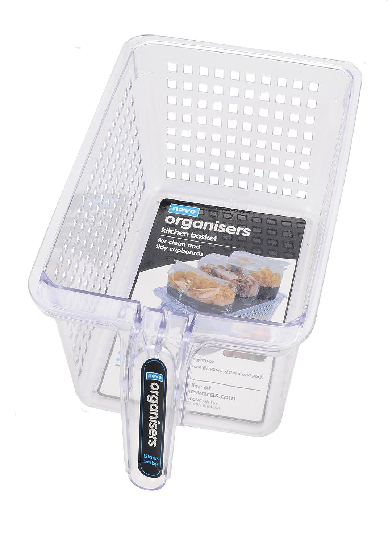 Novo Organisers Clear Plastic Kitchen Basket pack of 4 DNC UK Ltd 1080 339AZ