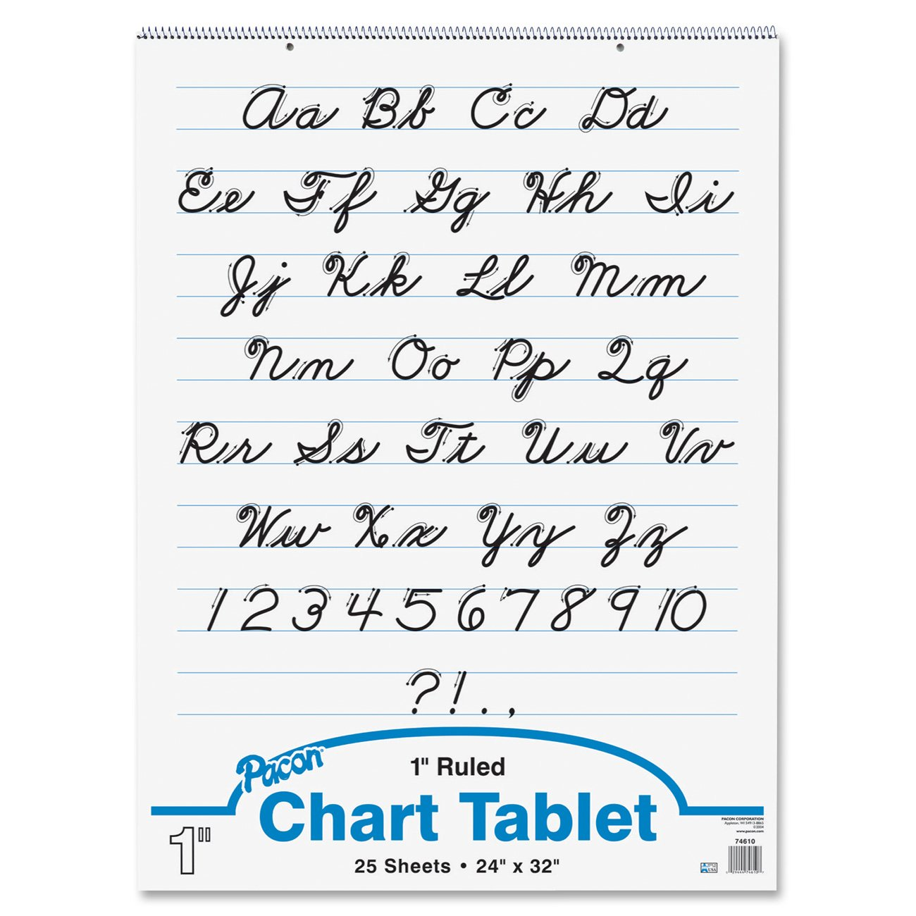 Amazon.com : Pacon Chart Tablet, 24  Lined Chart Paper