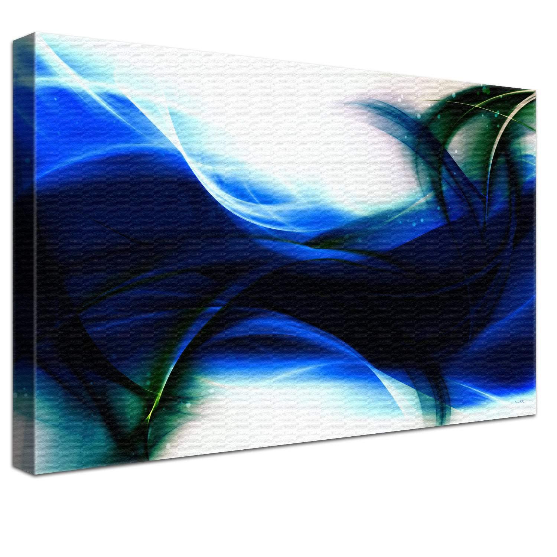 LANA KK Luxus Ausführung Ausführung Ausführung Leinwandbild Empfindung Star  Abstraktes Design auf 4cm Echtholz, Blau, 100 x 70 cm B074QR7ZDM | Niedrige Kosten  7d386c