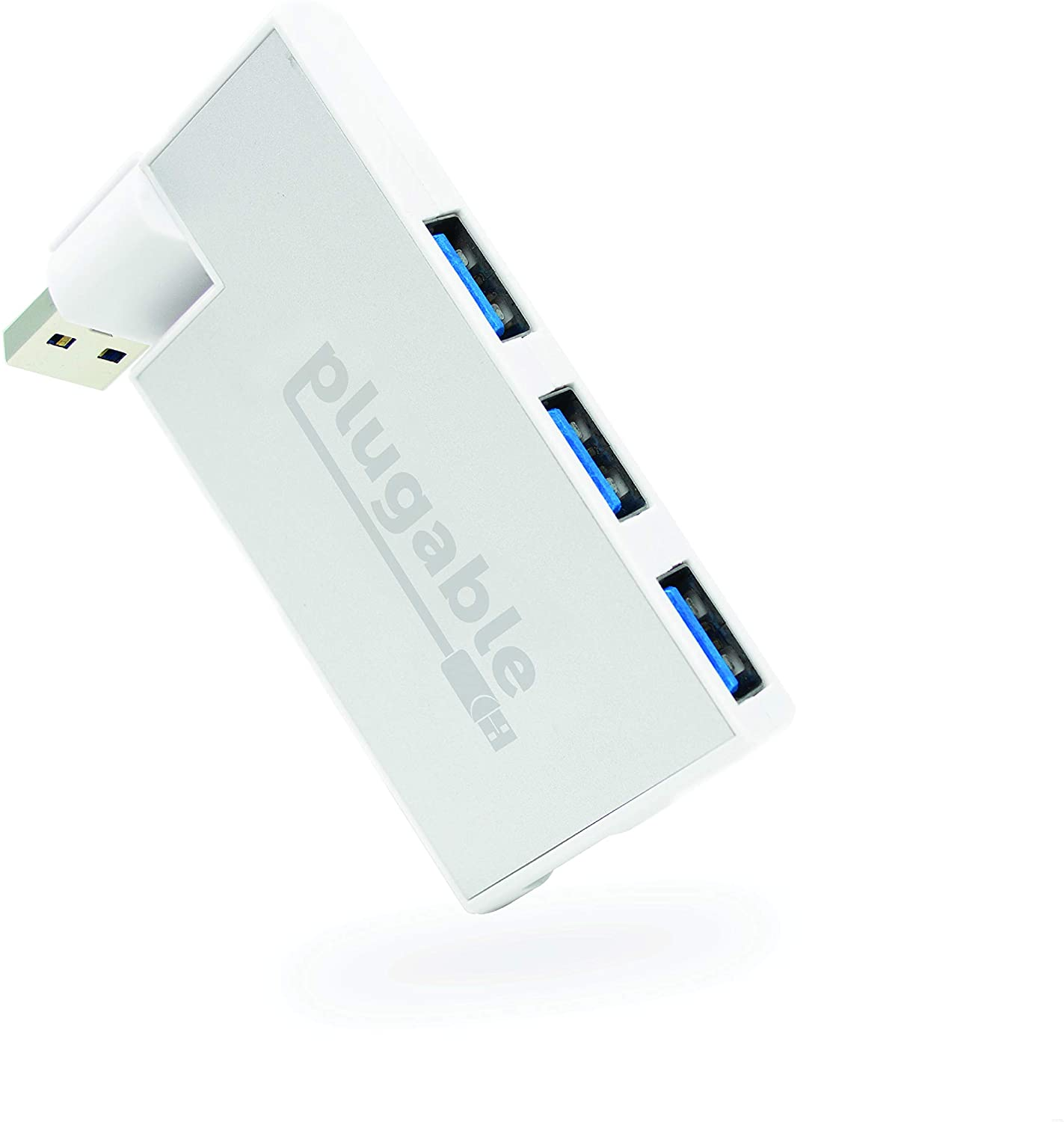 Amazon Com Plugable Usb Hub Rotating 4 Port Usb 3 0 Hub Powered Usb Hub Compatible With Windows Macos Linux Usb 2 0 Backwards Compatible Computers Accessories