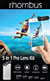 Cell Phone camera lens kit for Iphone X 8, 8plus, 7, 6, Pixel 2, 2xl Galaxy S8, S7, with Case, attachment clip, zoom telephoto, fisheye, macro, wide angle and CPL lense set smartphone cellphone mobile