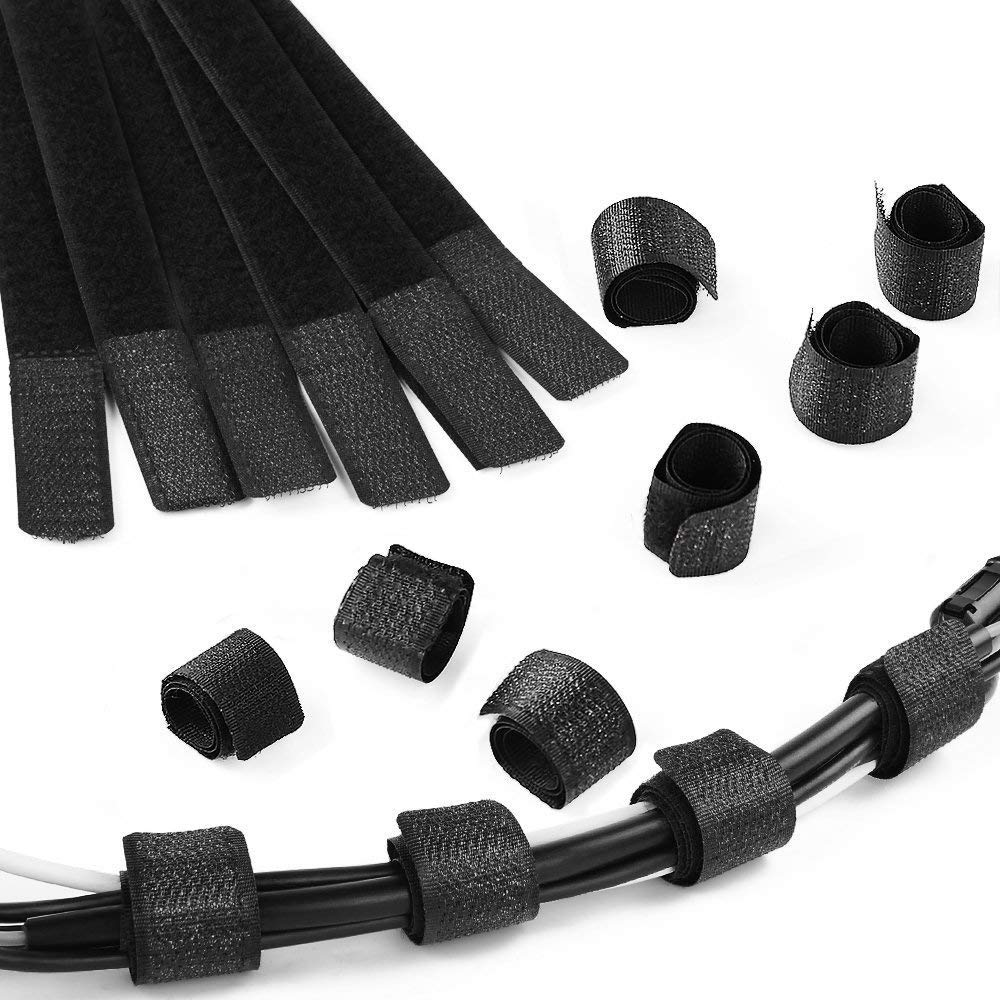 GOOACC Cable Ties 100pcs Cable Straps Reusable Fastening Wire Organizer Cord Rope Holder 7 Inch (Black)