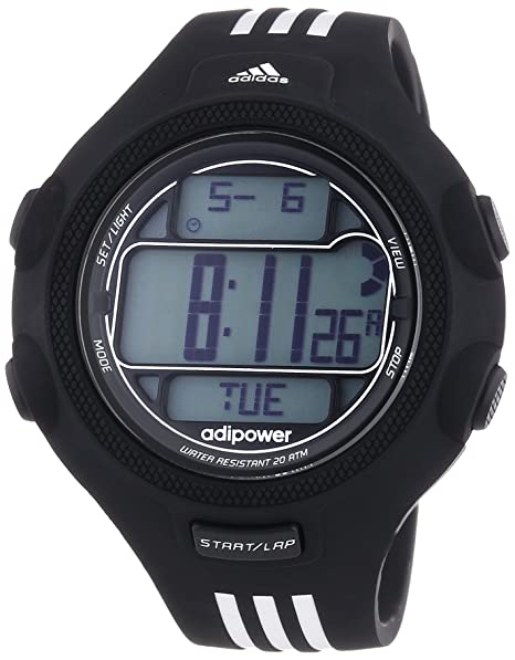 adidas Adipower - Reloj de cuarzo para hombre, con correa de goma, color negro: Amazon.es: Relojes