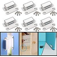 Magnetische snapper kastmagneet houdenkracht 13 kg, roestvrij staal magnetisch deursluiter, meubelmagneet deursluiting…