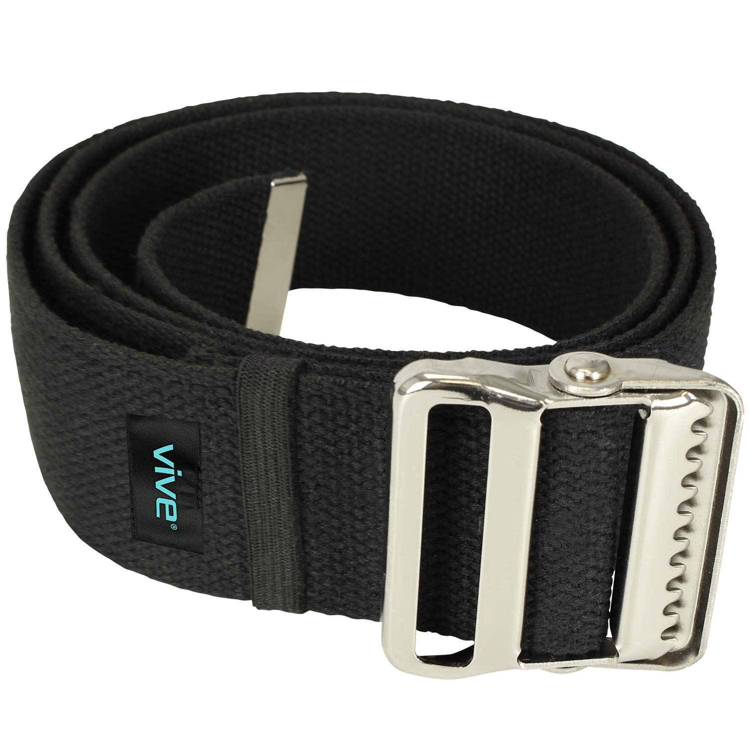 Vive Gait Belt (60 Inch) - Transfer Assist Device for Seniors, Elderly, Pediatric, Bariatric, Occupational and Physical Therapy - Medical Nursing Safety Long Gate Strap with Quick Release Metal Buckle