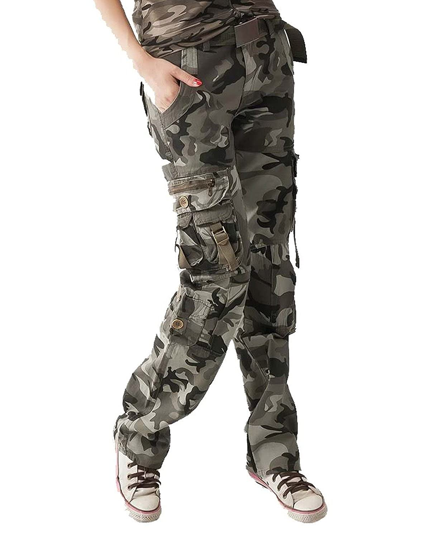 Tengfu Womens Casual Sports Hiking Camouflage Cargo Pants
