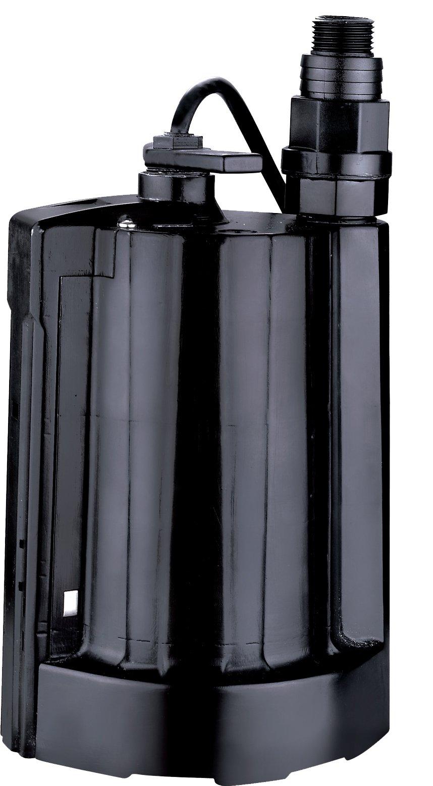 Acquaer AUP033-5 Acquaer 1/3 Auto Submersible Utility Pump, Black