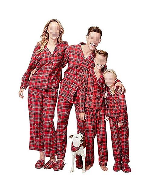 CHRONSTYLE Pijamas Dos Piezas Familiares de Navidad, Conjuntos Navideños de Algodón para Mujeres Hombres Niño Bebé, Ropa para Dormir Verano Otoño Invierno ...