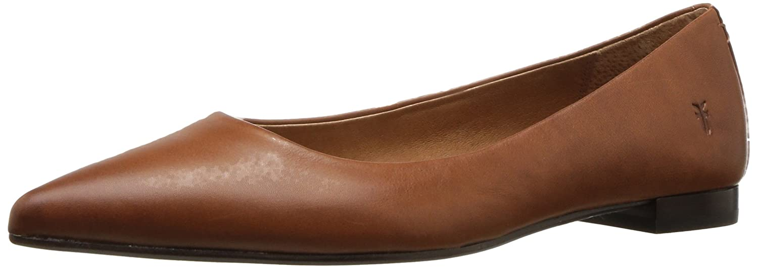 FRYE Women's Sienna Ballet Flat B01MZ66MQX 5.5 B(M) US|Saddle Polished Soft Full Grain