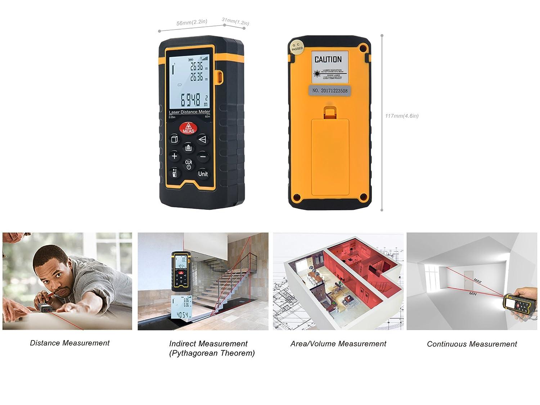Tacklife Entfernungsmesser Unterschied : Tacklife a ldm advanced laser entfernungsmesser distanzmessgerät