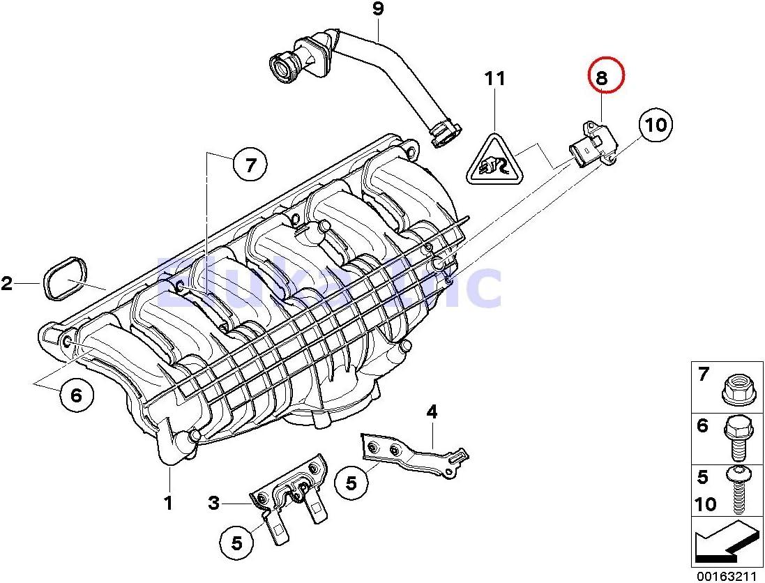 Amazon.com: BMW Genuine Intake Manifold Absolute Pressure Sensor (Map  Sensor) 535i 535xi 535xi X5 M X5 50iX X6 35iX X6 50iX X6 M Hybrid X6 135i M  Coupé 135i Z4 35i Z4Amazon.com