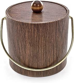 product image for Mr. Ice Bucket Walnut Woodgrain Ice Bucket, 3-Quart